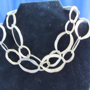 Goldtone large link adjustablestatement necklace